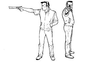 Position du pistolier